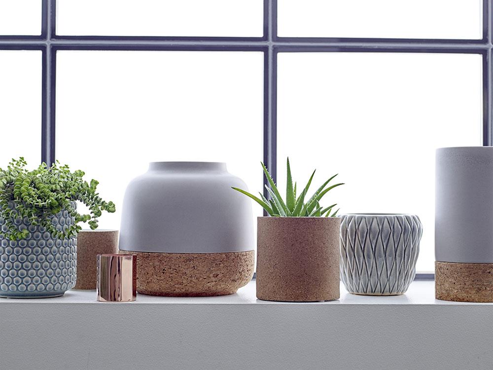 bloomingville blumentopf kork mattgr n eur 45 00. Black Bedroom Furniture Sets. Home Design Ideas