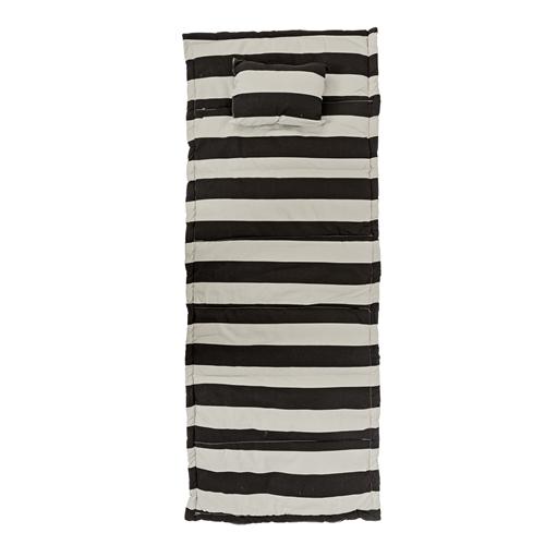 strandmatte schwarz wei gestreift von bloomingville. Black Bedroom Furniture Sets. Home Design Ideas