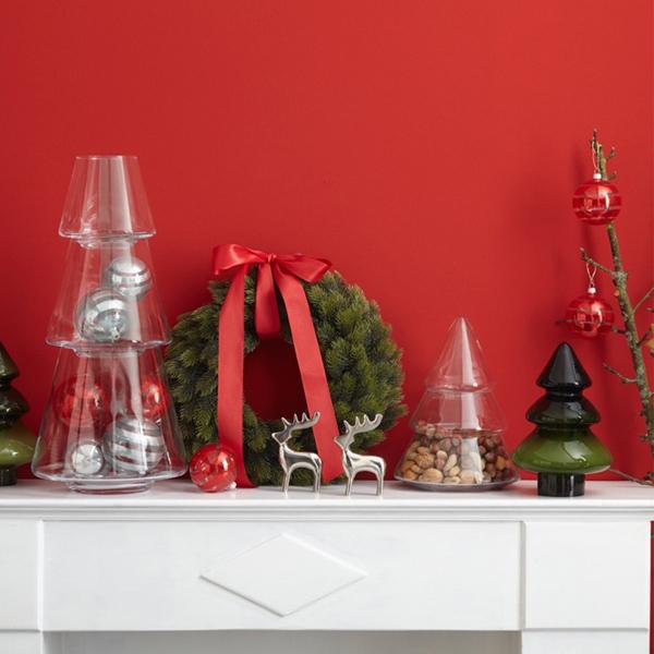 christbaumschmuck kugel streifen silber gro von leonardo. Black Bedroom Furniture Sets. Home Design Ideas