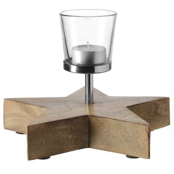 sternleuchter aus mangoholz gro von leonardo. Black Bedroom Furniture Sets. Home Design Ideas