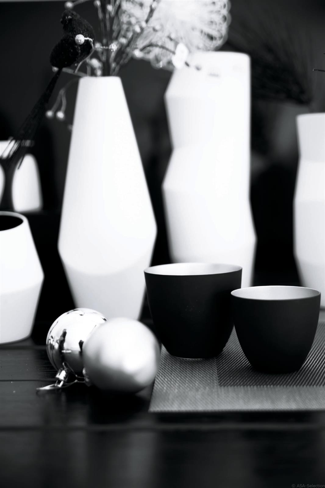 asa windlicht xmas schwarz silber 6 4cm. Black Bedroom Furniture Sets. Home Design Ideas