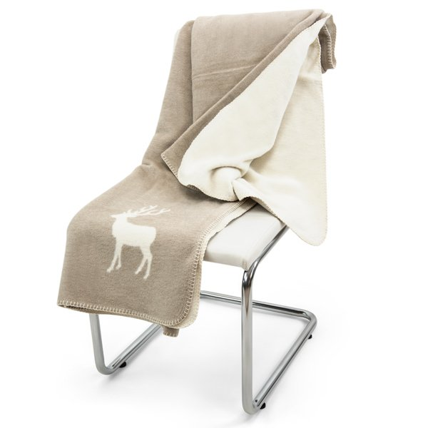 david fussenegger decke prato hirsch natur eur 37 95. Black Bedroom Furniture Sets. Home Design Ideas