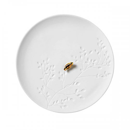 Design Teller teller porzellangeschichten zuhause goldener vogel