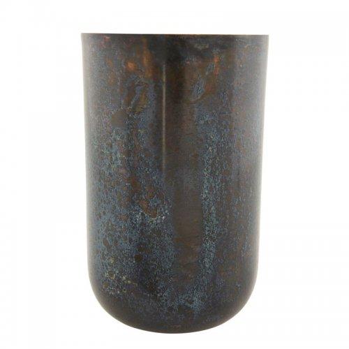 blumenvase vase style grau blau aus metall von house doctor. Black Bedroom Furniture Sets. Home Design Ideas