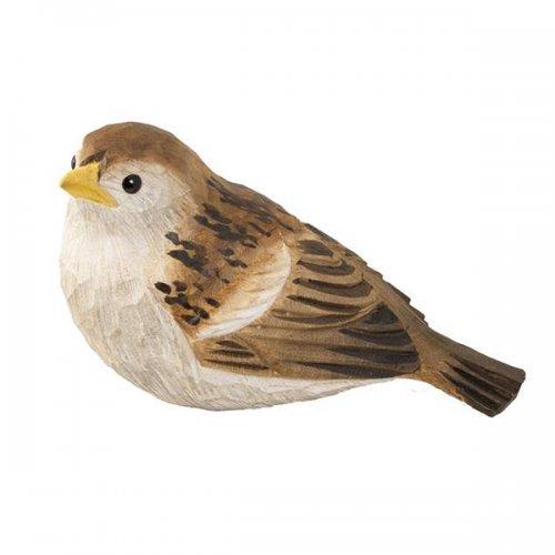 Vogelfigur Dekovogel Spatz Sperling handgefertigt von Wildlife Garden