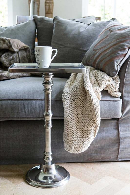 tisch side table beistelltisch highclere aus metall von riviera maison. Black Bedroom Furniture Sets. Home Design Ideas