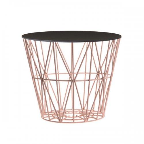 Beistelltisch metall draht  Beistelltisch Basket Rose-Schwarz (Klein) von Ferm Living