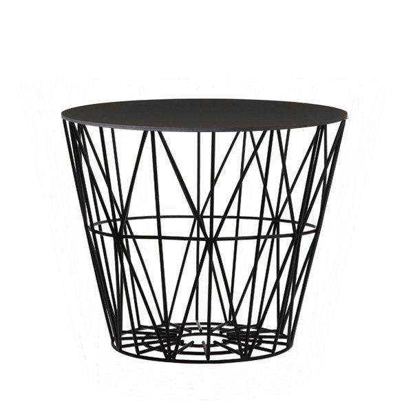 Beistelltisch metall draht  Beistelltisch Basket Schwarz-Schwarz (Klein) von Ferm Living