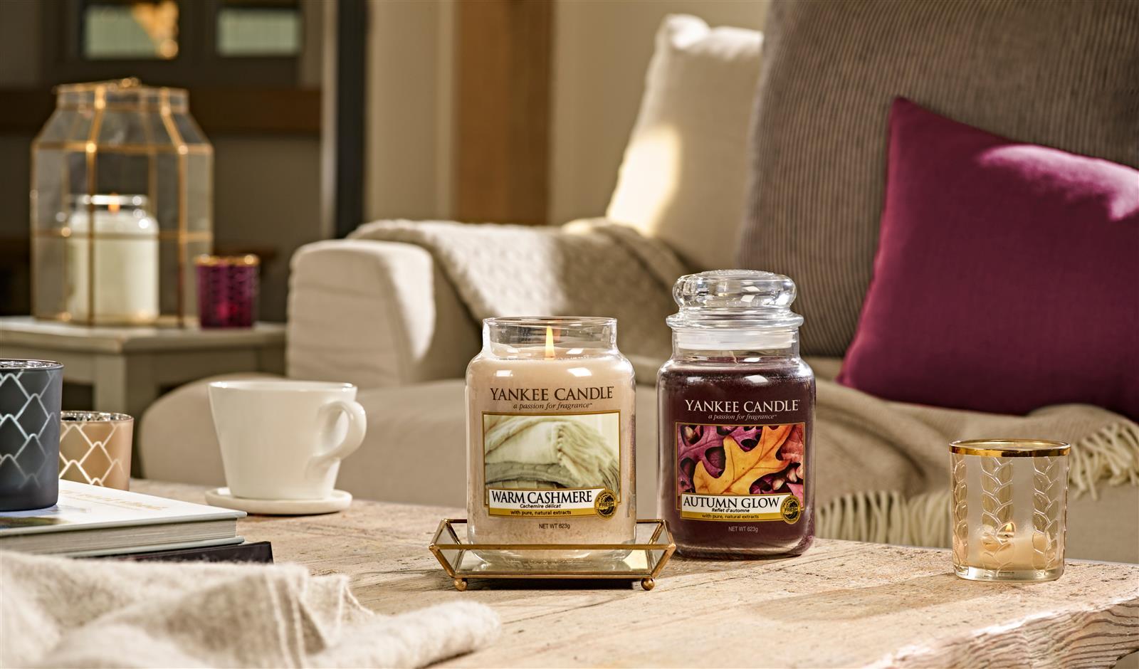 duftkerze housewarmer warm cashmere von yankee candle. Black Bedroom Furniture Sets. Home Design Ideas