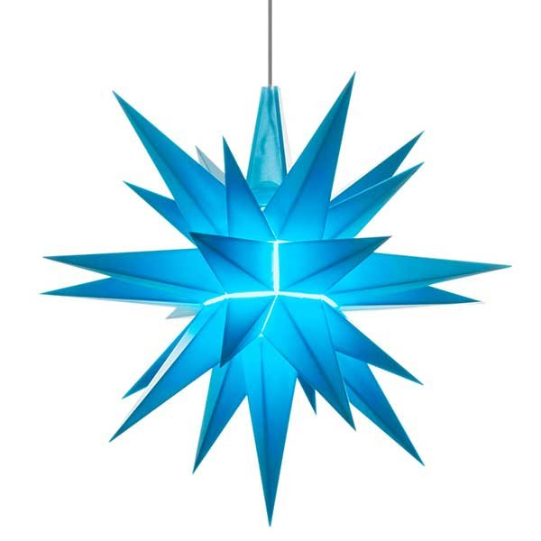 stern a1e kunststoff led blau sonderedition von herrnhuter sterne. Black Bedroom Furniture Sets. Home Design Ideas