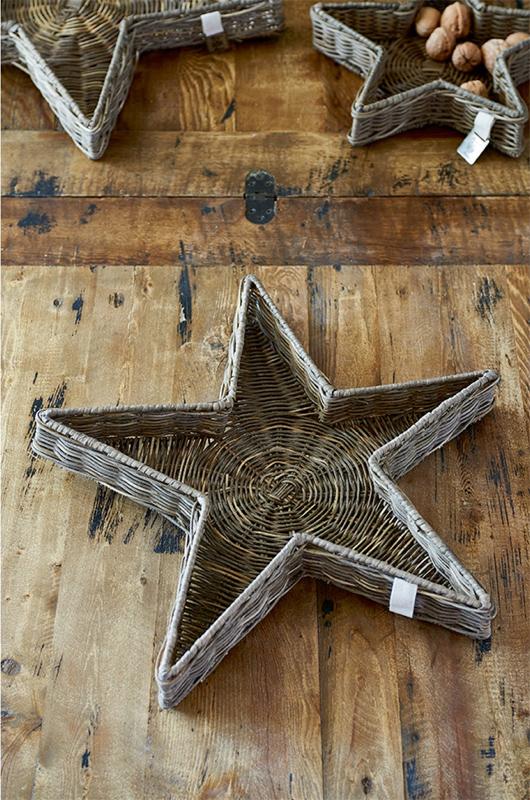 Stern schale stern tablett rustic rattan von riviera maison for Riviera maison tisch