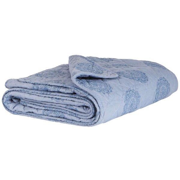 decke quilt tagesdecke kuscheldecke blau mit kreismuster 180 x 130 cm von ib laursen. Black Bedroom Furniture Sets. Home Design Ideas