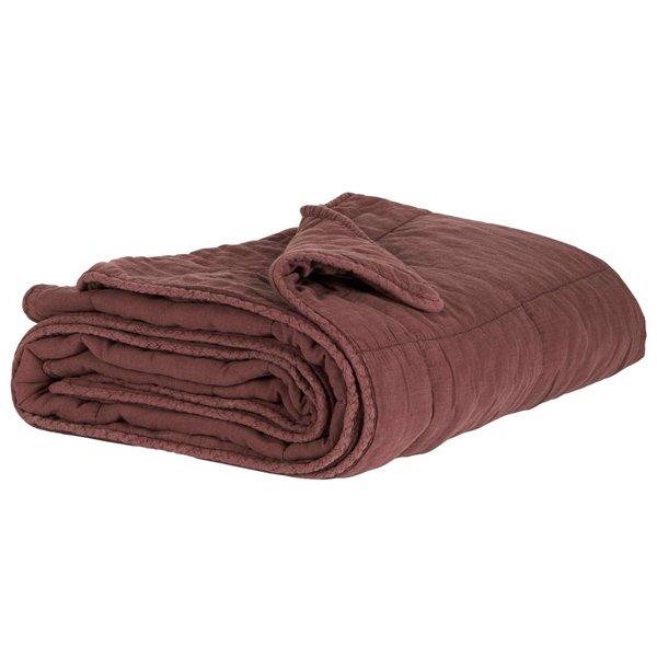 decke quilt tagesdecke kuscheldecke chocolate 180 x 130 cm von ib laursen. Black Bedroom Furniture Sets. Home Design Ideas