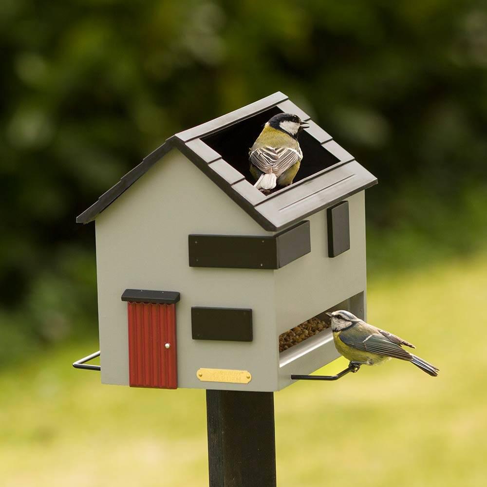 wildlife garden futterhaus mit vogelbad grau eur 69 00. Black Bedroom Furniture Sets. Home Design Ideas