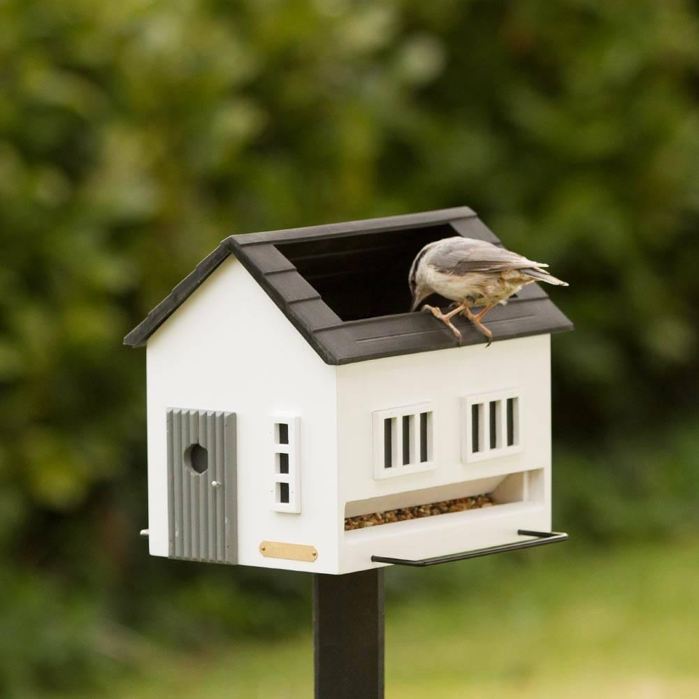 wildlife garden futterhaus mit vogelbad wei eur 69 00. Black Bedroom Furniture Sets. Home Design Ideas