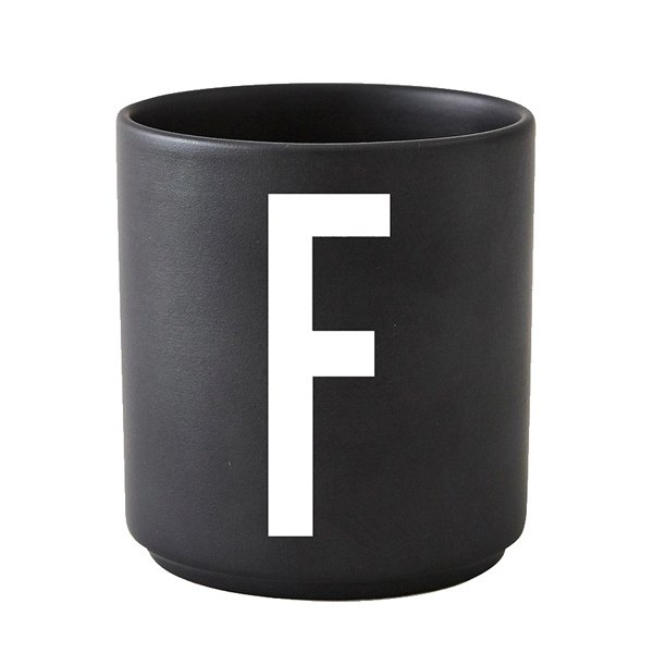 tasse schwarz buchstabe f von design letters. Black Bedroom Furniture Sets. Home Design Ideas