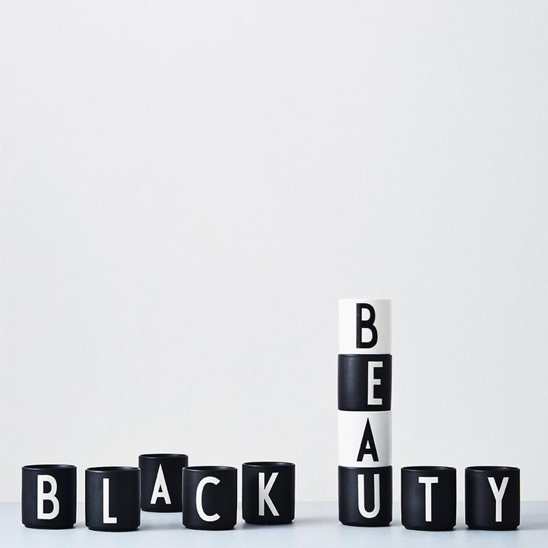 tasse schwarz buchstabe l von design letters. Black Bedroom Furniture Sets. Home Design Ideas
