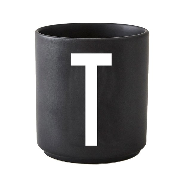 tasse schwarz buchstabe t von design letters. Black Bedroom Furniture Sets. Home Design Ideas