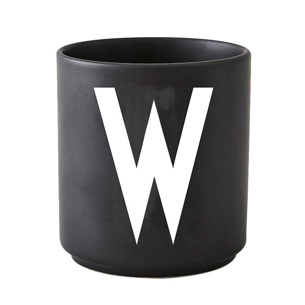 tasse schwarz buchstabe w von design letters. Black Bedroom Furniture Sets. Home Design Ideas