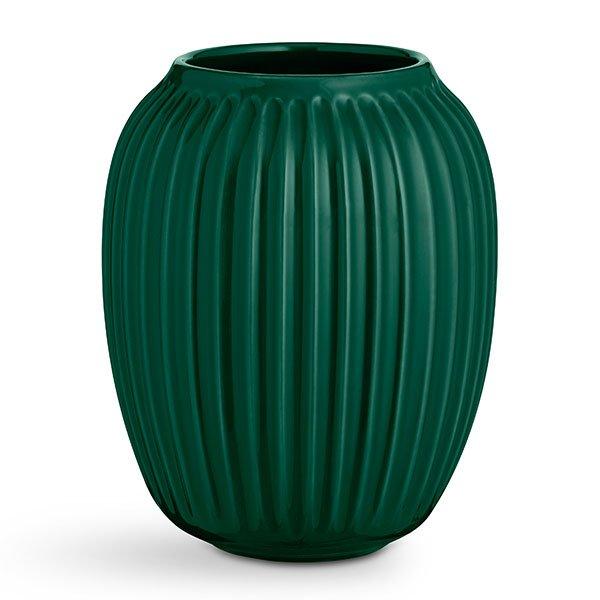 vase hammersh i gr n 20cm von k hler design. Black Bedroom Furniture Sets. Home Design Ideas