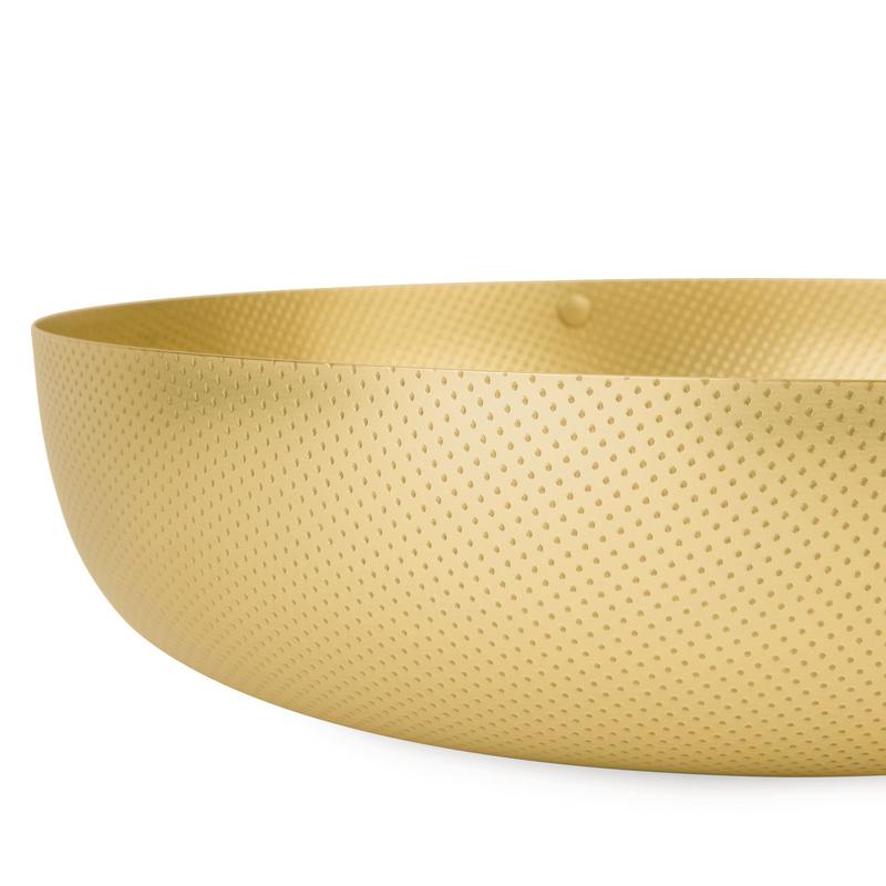 obstschale schale rund jm17 gold mittel messing von alessi. Black Bedroom Furniture Sets. Home Design Ideas