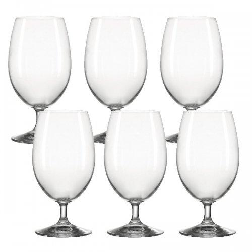 Wassergläser saftglas wasserglas auf fuß daily 6er set leonardo
