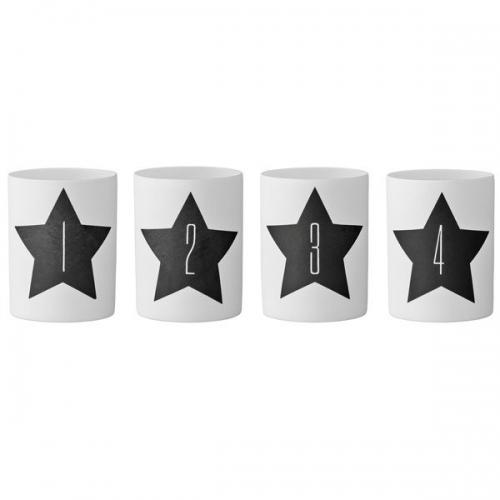 advents teelichthalter schwarze sterne 4 teilig von bloomingville. Black Bedroom Furniture Sets. Home Design Ideas