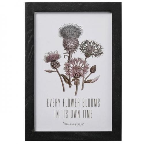 bild mit rahmen every flower von bloomingville. Black Bedroom Furniture Sets. Home Design Ideas