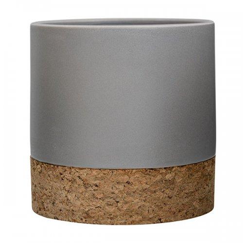 bloomingville blumentopf kork mattgrau eur 45 00. Black Bedroom Furniture Sets. Home Design Ideas