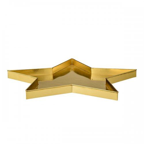bloomingville deko tablett stern gold eur 40 51. Black Bedroom Furniture Sets. Home Design Ideas