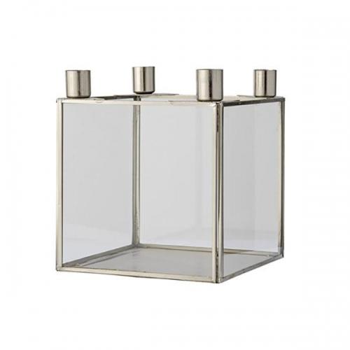 bloomingville kerzenst nder cube silber. Black Bedroom Furniture Sets. Home Design Ideas