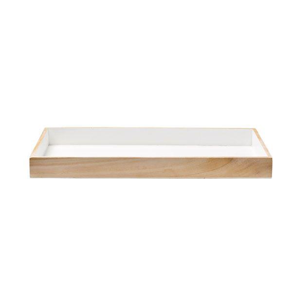 tablett rechteckig wei von bloomingville bei erkmann. Black Bedroom Furniture Sets. Home Design Ideas