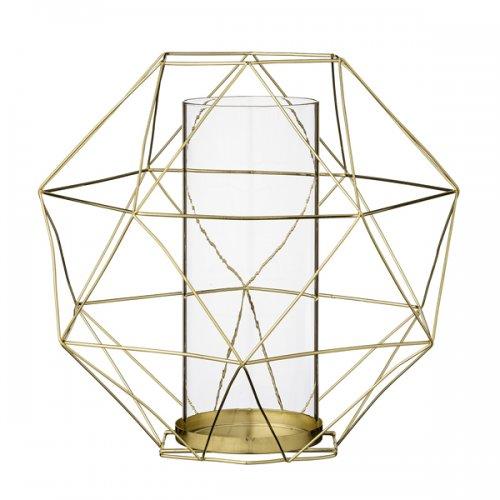 bloomingville teelichthalter laterne gold eur 33 00. Black Bedroom Furniture Sets. Home Design Ideas