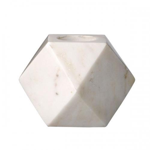 teelichthalter marmor hellgrau von bloomingville. Black Bedroom Furniture Sets. Home Design Ideas