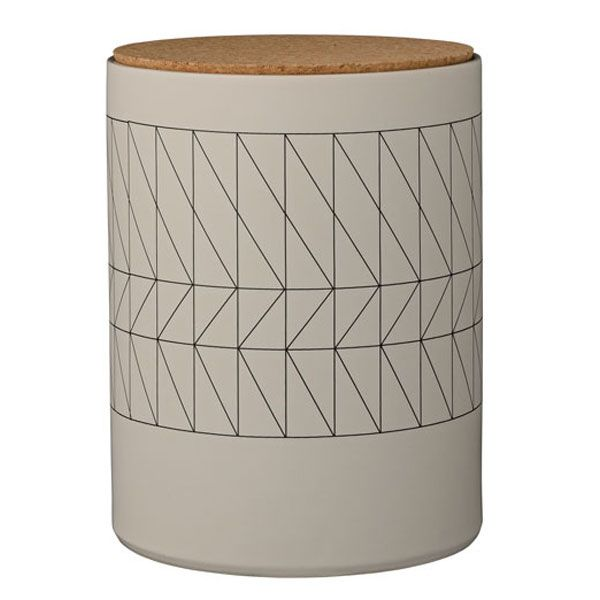 vorratsbeh lter mit korkdeckel carina grau von bloomingville. Black Bedroom Furniture Sets. Home Design Ideas