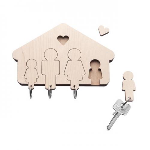 schl sselbrett mit schl sselanh ngern home sweet home familie von designimdorf. Black Bedroom Furniture Sets. Home Design Ideas