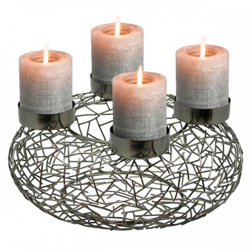 adventskranz milano schwarz klein von edzard. Black Bedroom Furniture Sets. Home Design Ideas