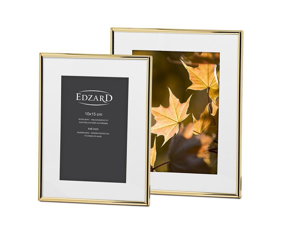 Bilderrahmen Fotorahmen Rahmen Genua Gold (10x15cm) von Edzard