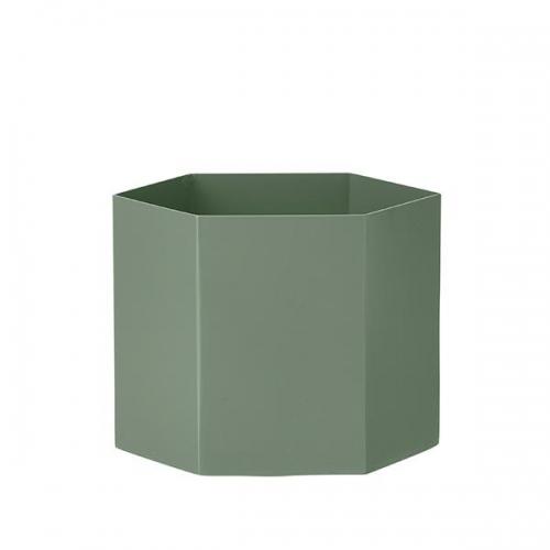 ferm living blumentopf hexagon dusty green xl. Black Bedroom Furniture Sets. Home Design Ideas