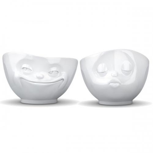 fiftyeight products sch lchen tv tassen k ssend und grinsend mittel 2 teilig. Black Bedroom Furniture Sets. Home Design Ideas