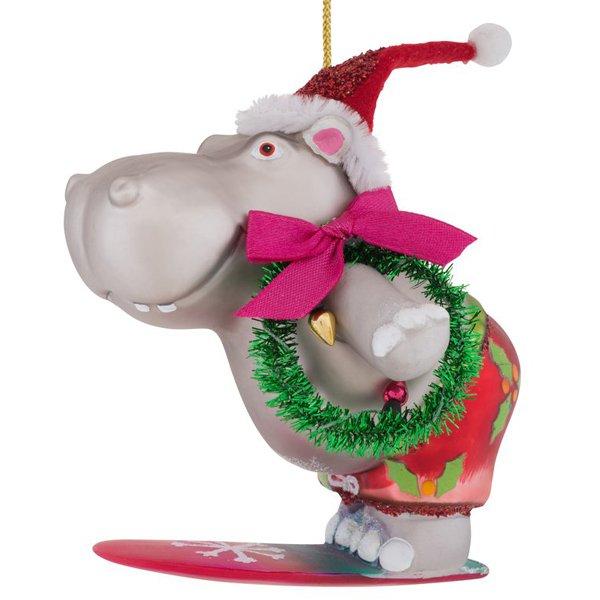 Christbaumschmuck hippo mit kranz von gift company - Christbaumschmuck leuchtturm ...