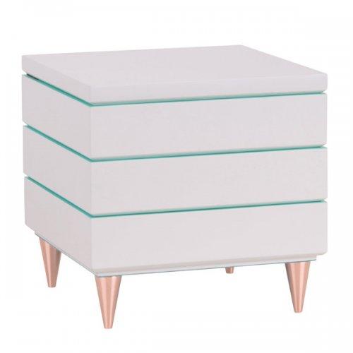 quartier schmuckbox stapelbar wei t rkis klein von gift company. Black Bedroom Furniture Sets. Home Design Ideas