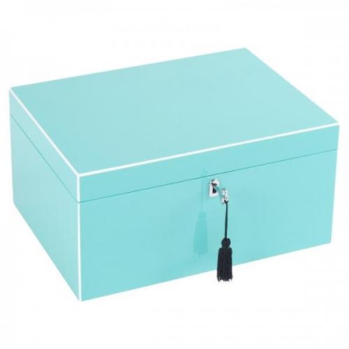 schmuckbox tang mit spiegel und schlo park avenue blue von gift company. Black Bedroom Furniture Sets. Home Design Ideas