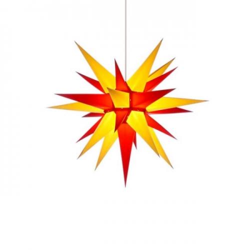 stern i6 papier gelb rot 60cm von herrnhuter. Black Bedroom Furniture Sets. Home Design Ideas