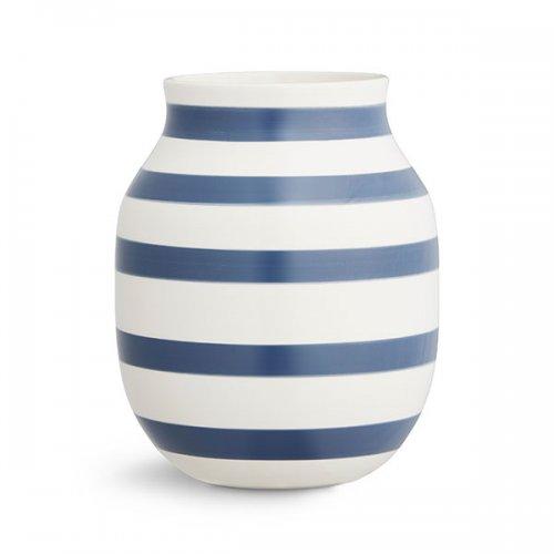 vase omaggio steel blue 20cm von k hler design. Black Bedroom Furniture Sets. Home Design Ideas