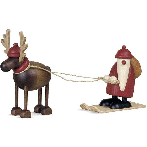 Rentier Rudolf mit Weihnachtsmann von Köhler Kunsthandwerk