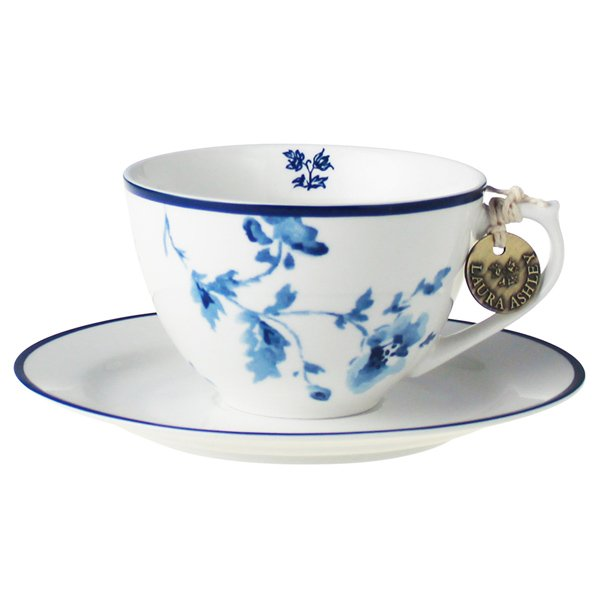 Cappuccino Tasse Untertasse Blueprint von Laura Ashley