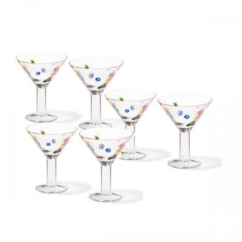 cocktailschale millefiori 6 teilig von leonardo bei erkmann. Black Bedroom Furniture Sets. Home Design Ideas