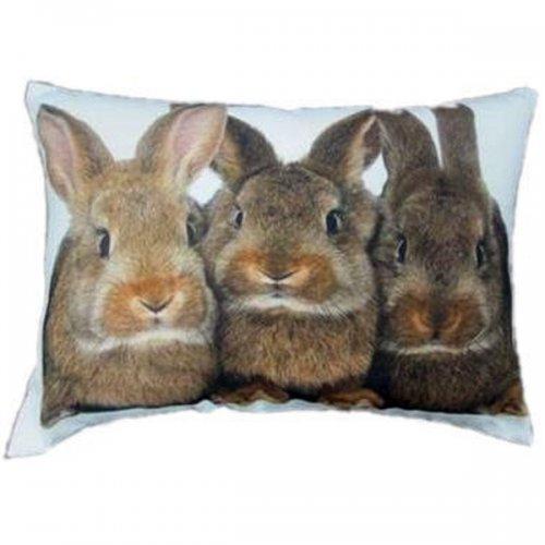 kissen drei kaninchen von mars more. Black Bedroom Furniture Sets. Home Design Ideas