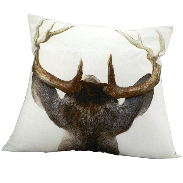 kissen hirschkopf r ckseite von mars more bei erkmann. Black Bedroom Furniture Sets. Home Design Ideas